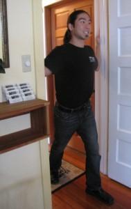 Traveling Aches. Pectoral doorway stretch. Siskiyou Massage, Ashland Oregon.