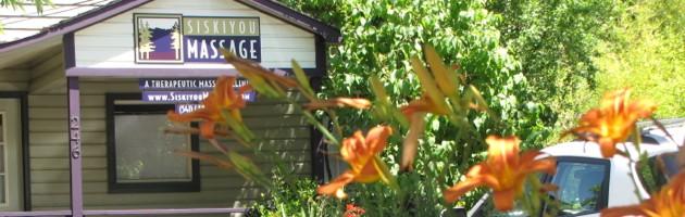 Spring flowers at Siskiyou Massage Clinic Ashland Oregon