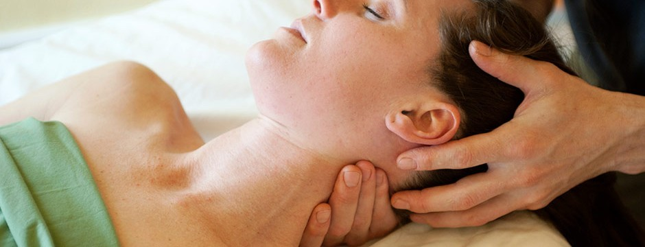 An image of massage therapy for motor vehicle accident injuries on neck.