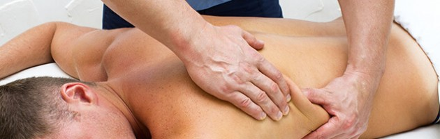 Image of a man getting a massage.